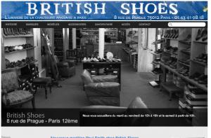 Création site référencement naturel Britishshoes